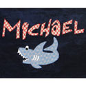 Personalized Shark Bath Towel, Hooded Baby Towels | ABaby.com