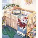 Lil Yeehaw Crib Bedding, Wild West, Western, Cowboy Themed Furniture, Decor For Childrens Rooms and Baby's Nursery.