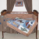 Cowboy Crib Bedding, Wild West, Western, Cowboy Themed Furniture, Decor For Childrens Rooms and Baby's Nursery.