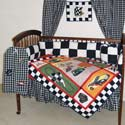 Race Car Crib Bedding, Train And Cars Themed Nursery | Train Bedding | ABaby.com