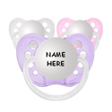 Personalized Pacifiers-Set of 3, Pacifier Clips | Custom Pacifier Clips | Silver | ABaby.com