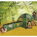 African Adventure Tent and Tunnel Combo, Outdoor Playhouse | Kids Play Houses | Kids Play Tents | ABaby.com