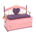 Princess Toy Box Bench, Kids Toy Boxes | Personalized Toy Chest | Bench | ABaby.com