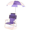 Pre-Teen Beach Chair & Multi Umbrella, Kids Chairs | Personalized Kids Chairs | Comfy | ABaby.com
