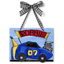 Race Car Name Plaque, Train Nursery Decor | Train Wall Decals | ABaby.com