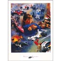 Racing Dreams Print, Sports Themed Nursery | Boys Sports Bedding | ABaby.com