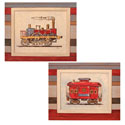 Chuggin' Along Artwork, Train And Cars Artwork | Train And Cars Wall Art | ABaby.com