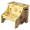My Cowboy Step Stool, Wild West, Western, Cowboy Themed Furniture, Decor For Childrens Rooms and Baby's Nursery.