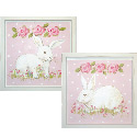 Hippity Hop Bunnies Wall Art Collection, Girls Wall Art | Artwork For Girls Room | ABaby.com