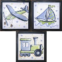 Transportation Stars Wall Art Collection, Train And Cars Artwork | Train And Cars Wall Art | ABaby.com