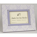 Elegant Damask Picture Frame, Personalized Nursery Decor | Baby Room Decor | ABaby.com