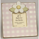 Gingham Daisy Picture Frame, Personalized Kids Room Decor | Nursery Wall Decals