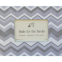 Gray Chevron Picture Frame, Kids Bedroom Decor | Clocks | Baby Picture Frames | ABaby.com