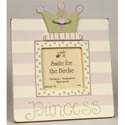Princess Dots and Stripes Picture Frame, Personalized Nursery Decor | Baby Room Decor | ABaby.com