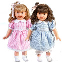 Samantha and Sandra Twin Dolls, Baby Doll Furniture Set | Doll Beds | High Chair | Cradle | Armoire