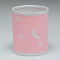 Moon and Stars Wastebasket,