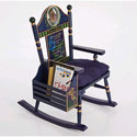 Time to Read Boys Rocker, Kids Chairs | Personalized Kids Chairs | Comfy | ABaby.com