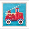 Fire Engine Artwork, Canvas Artwork | Kids Canvas Wall Art | ABaby.com