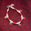 Red Heart Charm Bracelet, Baby jewelry | Baby Bracelets | Baby Necklaces | ABaby.com