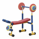 Fun and Fitness Weight Bench, Soft Play Toys | Baby Jogger | Fitness Toys | ABaby.com