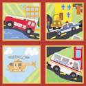 Rescue Series Artwork, Train And Cars Themed Nursery | Train Bedding | ABaby.com