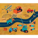 Road Repair Stretched Art, Nursery Wall Art | Baby | Wall Art For Kids | ABaby.com