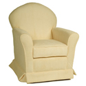 Royal Chenille Loose Cushion Glider, Upholstered Glider Rocker | ABaby.com