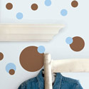 Blue and Brown Dots Wall Decal, Kids Wall Decals | Baby Room Wall Decals | Ababy.com
