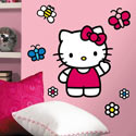 World of Hello Kitty Giant Wall Decal, Kids Wall Decals | Baby Room Wall Decals | Ababy.com