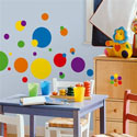 Colorful Dots Wall Decal, Kids Wall Decals | Baby Room Wall Decals | Ababy.com