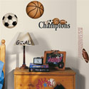 Play Ball Wall Decal, Sports Themed Nursery | Boys Sports Bedding | ABaby.com