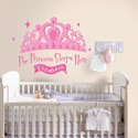 The Princess Sleeps Here Wall Decal, Princess Nursery Decor | Princess Wall Decals | ABaby.com