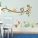 Scroll Tree Branch Wall Decal, Kids Wall Decals | Baby Room Wall Decals | Ababy.com