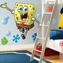 Spongebob Squarepants Giant Wall Decal, Kids Wall Decals | Baby Room Wall Decals | Ababy.com