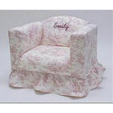 Personalized Ruffled Children's Chair, Kids Upholstered Chairs | Personalized Upholstered Chairs | ABaby.com