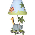 Safari Table Lamp, African Safari Nursery Decor | African Safari Wall Decals | ABaby.com