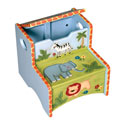 Safari Step-Up Stool, African Safari Themed Nursery | African Safari Bedding | ABaby.com