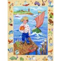 Sailor Adventure Stretched Art, Nautical Themed Nursery | Nautical Bedding | ABaby.com