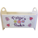 Personalized Gloss White Book Holder