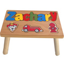 Personalized Fire Truck Wooden Puzzle Stool, Personalized Step Stool for Toddlers | Kids | Small | aBaby.com