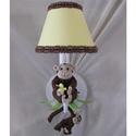 Monkey Business Sconce, African Safari Themed Nursery | African Safari Bedding | ABaby.com