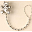 Silver Beads Pacifier Clip, Pacifier Clips | Custom Pacifier Clips | Silver | ABaby.com