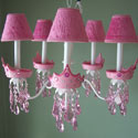 Glamour Girl Crown Chandelier, Princess Nursery Decor | Princess Wall Decals | ABaby.com