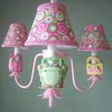 Happy Handbags Chandelier, Tea Party Nursery Decor | Tea Party Wall Decals | ABaby.com