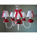 Little Ladybug Chandelier, Frogs And Bugs Themed Nursery | Frogs And Bugs Bedding | ABaby.com