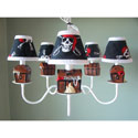Pirate's Treasure Chandelier, Pirates Nursery Decor | Pirates Wall Decals | ABaby.com
