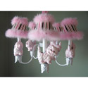Prissy Little Kitty Chandelier, Nursery Lighting | Kids Floor Lamps | ABaby.com