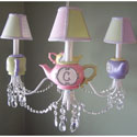 Millie's Teapot Chandelier, Tea Party Nursery Decor | Tea Party Wall Decals | ABaby.com