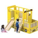 School Bus Vehicle Playtime Loft, Outdoor Playhouse | Kids Play Houses | Kids Play Tents | ABaby.com