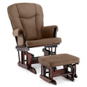Nutmeg n' Chocolate Glider and Ottoman, Wood Glider | Sliech Gliders | ABaby.com
